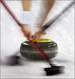 curling - sweeping