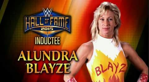 Alundra Blayze will be inducted into the 2015 Wwe Hall Of Fame