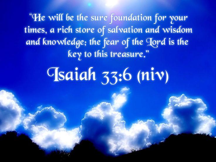 isaiah 33 6 niv scripture isaiah pinterest image