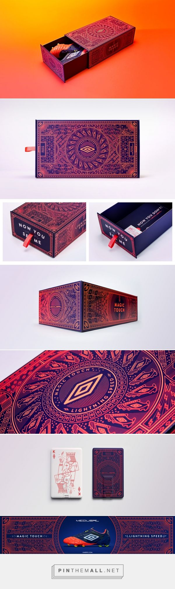 UMBRO Medusae Boot Launch packaging design by LOVE X TJ Nicklin Illustration - http://www.packagingoftheworld.com/2017/04/umbro-medusae-boot-launch.html