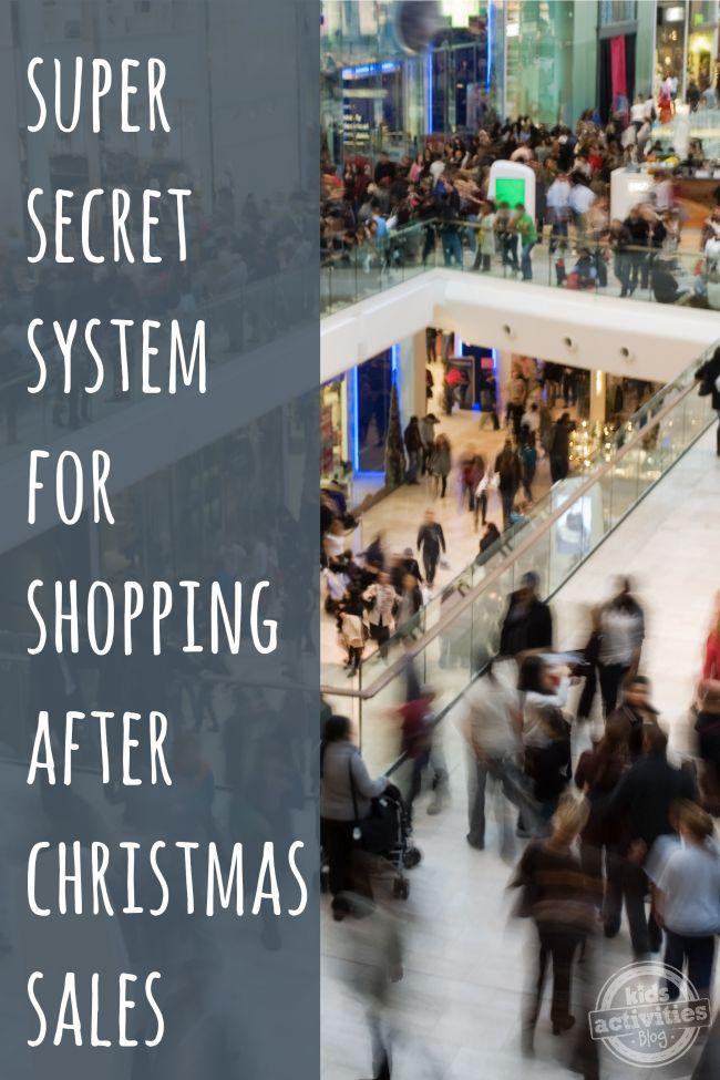 Super Secret System for Shopping After Christmas Sales - Kids Activities Blog