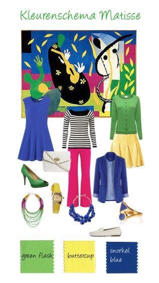 Een schilderij als inspiratiebron om tot een mooie #kleurencombinatie te komen. Kies voor je basisgarderobe 2 neutrale en 3 basiskleuren. #basisgarderobe #budgetgarderobe #pantonecolors2016