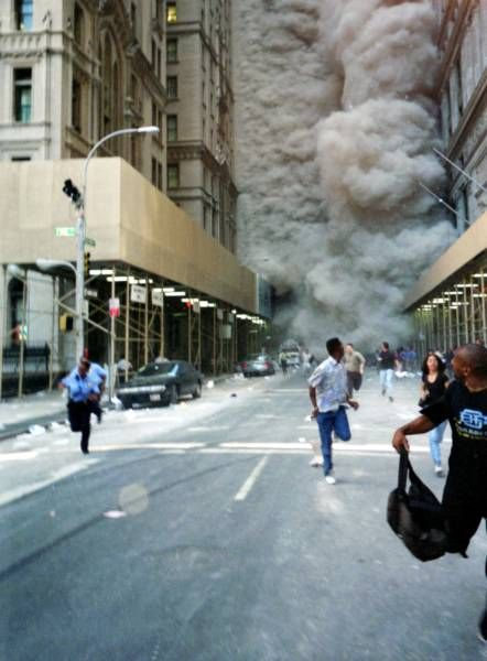 History ~ 9/11 I haven't forgotten...This is the surreal image that I remember.  The kind of thing you only imagine being in movies.