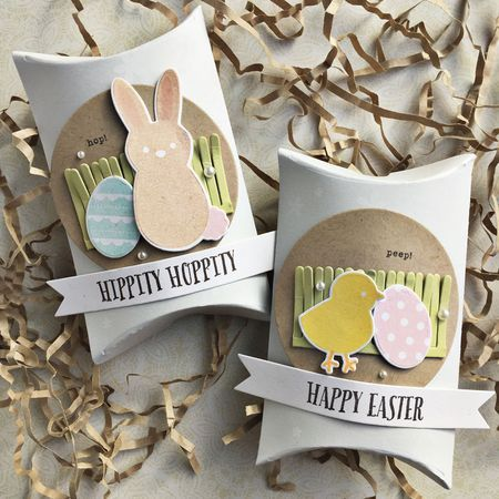 Easter Pillow Boxes by Heather Nichols for Papertrey Ink (February 2016)