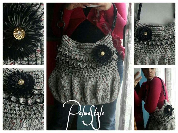 Craft bag, handmade bag, crochet bag.