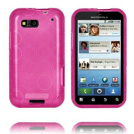 Amazona (Vaaleanpunainen) Motorola Defy Silikonisuojus