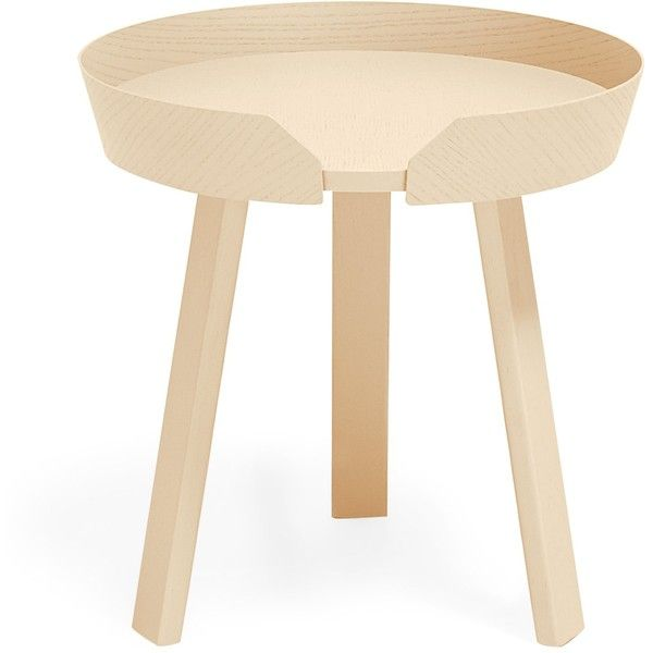 Muuto Small Ash Around Coffee Table ($449) ❤ liked on Polyvore featuring home, furniture, tables, accent tables, ash table, muuto table, muuto, muuto furniture and ash wood furniture