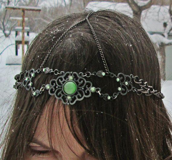Medieval Head chain  Renaissance jewelry  Goth by EarthChildArt, $30.00