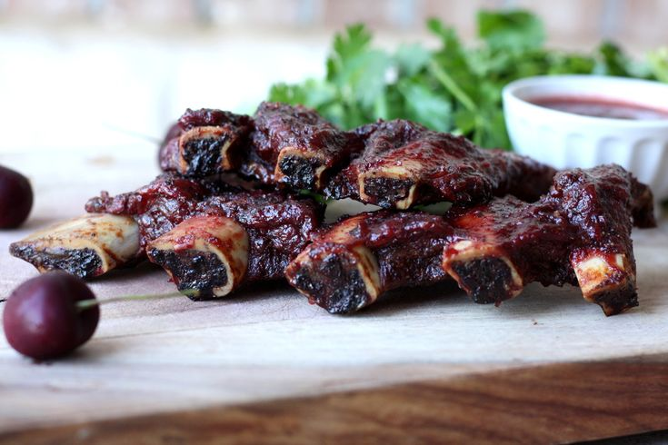 Grilled Ribs With Cherry Cola Barbecue Sauce Recipe — Dishmaps