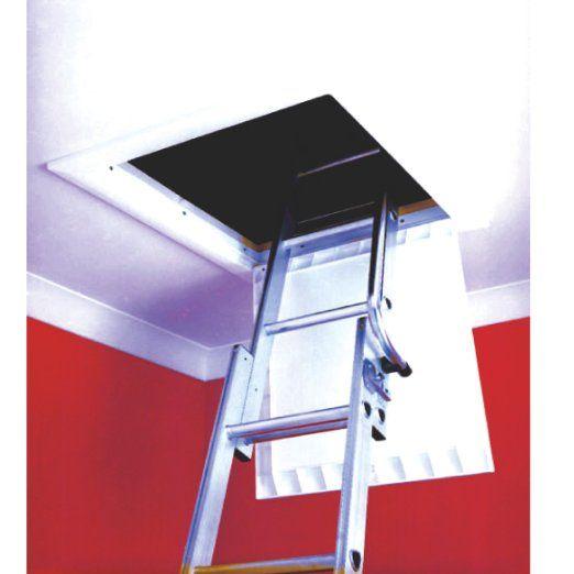 Timloc 1169 White Hinged Drop Down Insulated Loft Hatch Access Trap Door Part L Compliant