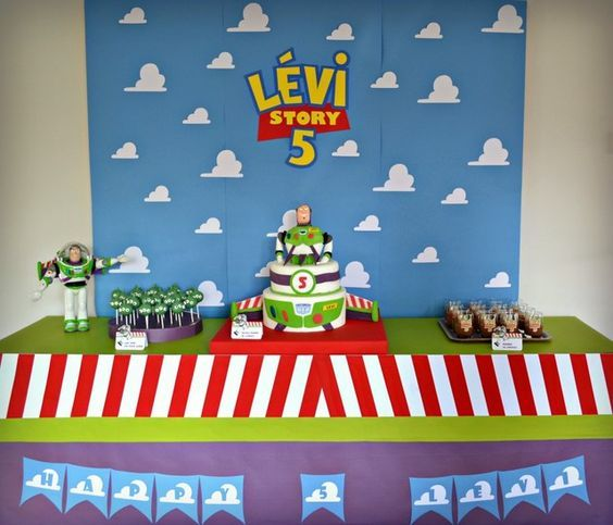 """¿Alguna vez has escuchado la popular frase """"Al infinito y mas allá""""? Espero que si, porque el tema que te voy a presentar a continuación tiene mucho que ver con esas cinco palabras. Se trata nada mas y nada menos que de la Decoración de Buzz Lightyear para fiesta de cumpleaños, pues el es el juguete que menciona esa famosa frase y se ha caracterizado en Toy Story por ser uno de los juguetes favoritos de Andy, pero no solamente eso sucedió en la película, pues en resumidas cuentas, e..."""