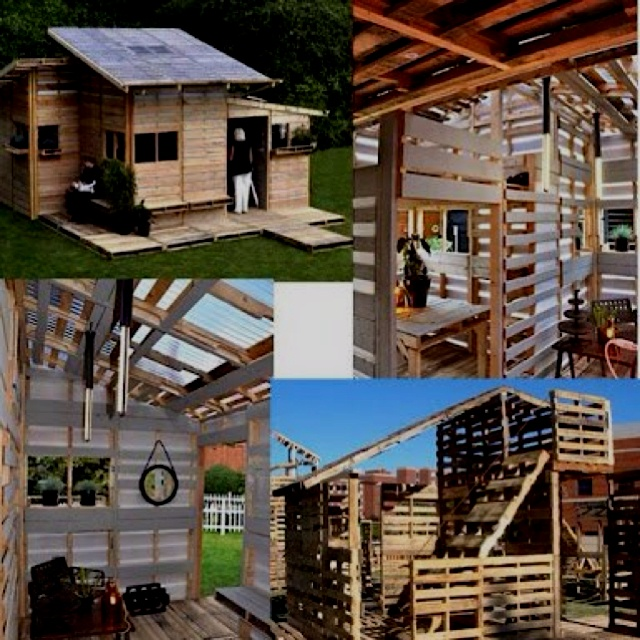 Increíble casa hecha con Palets.Playhouses Playgrounds, Crafts Ideas, Pallets House, Casa Bacanas, Palet House, Pallet House, House, De Pallets, Reciclar Pallets