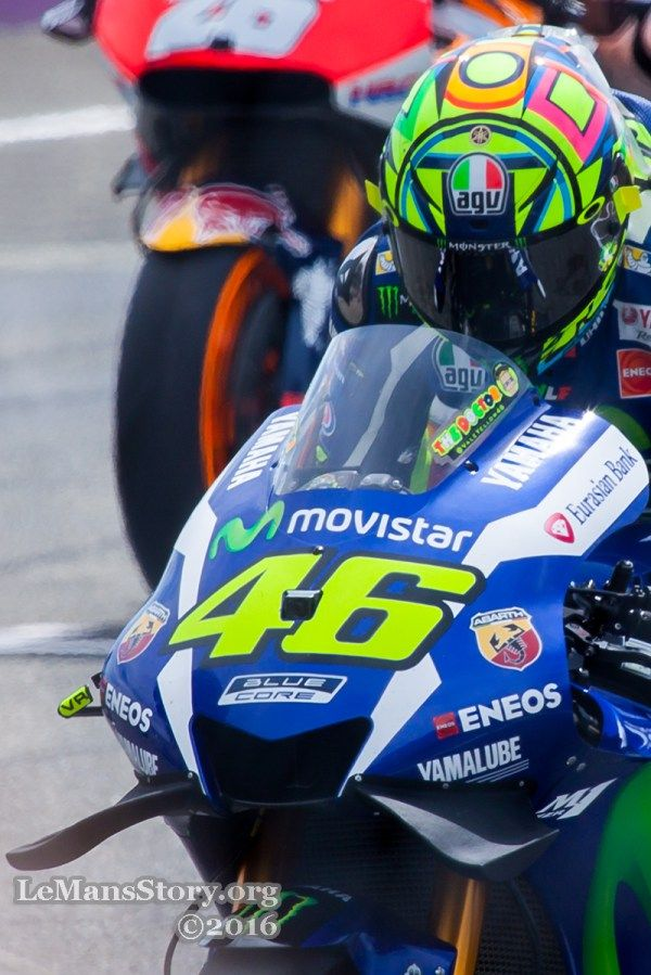 The Doctor Valentino Rossi VR46 on start at Moto GP LeMans