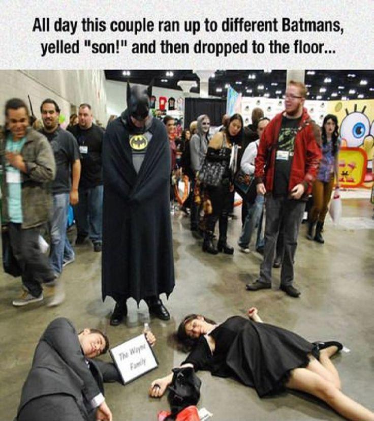 These practical jokers pretending to be Batman's parents nailed it!...  #Funny #Batman #Memes