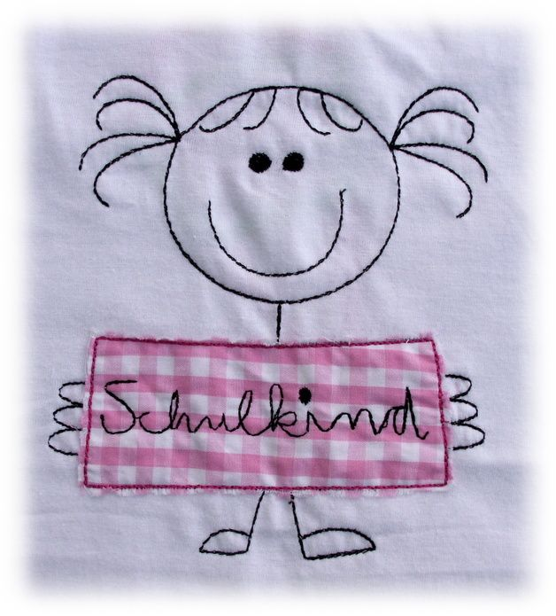 T-Shirts - *Schulkind* T-Shirt zum Schulanfang - ein Designerstück von Die-Naehfee bei DaWanda