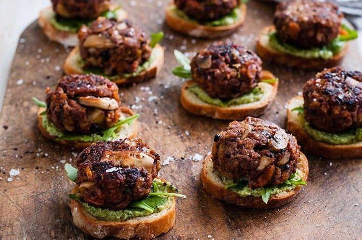 Mushroom and Beef Rissoles