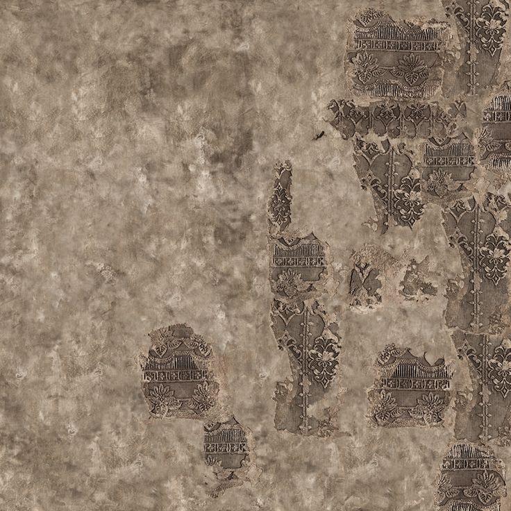 Carta da parati effetto muro SANGALLO by Wall&decò design Giovanni Pesce