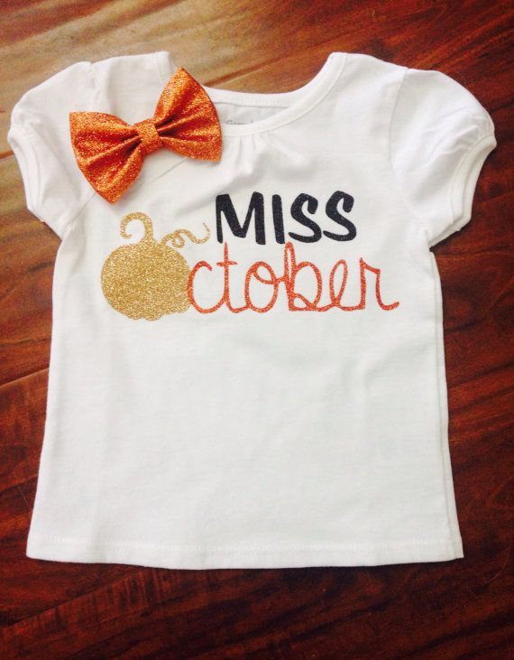 Miss October shirt//Fall birthday shirt//Halloween girl shirt//1st First 2nd 3rd 4th 5th Birthday Girl Outfit//pumpkin girl shirt//