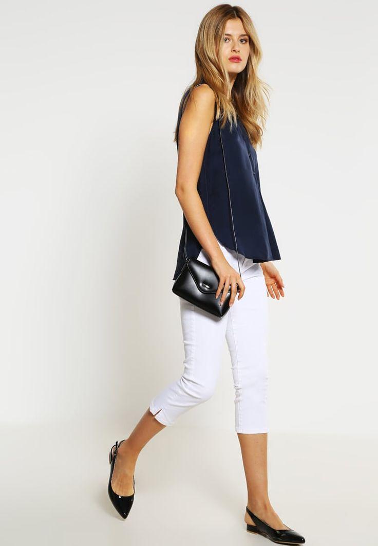 Esprit Szorty jeansowe - white - Zalando.pl