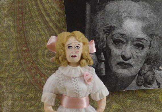 Bette Davis as Baby Jane  Evil Sister Creepy Movie Fan Art