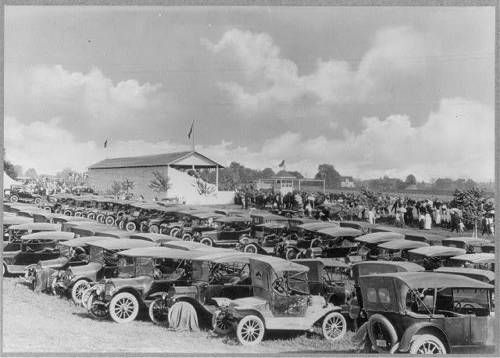 Model T Ford Forum: Old Photo - Model T Era - Fair Grounds Parking Lot,Owosso,Michigan