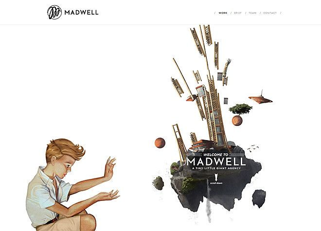 MADWELL - A TINY LITTLE GIANT AGENCY - CoolHomepages Web Design Gallery