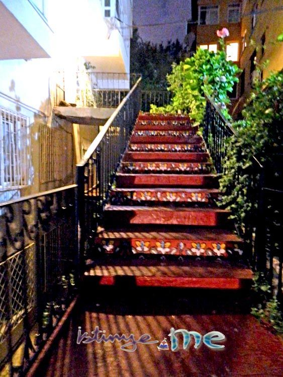 Few more photos from building's painted stairs by night.(from downbelow) | Go for more photos..: http://www.istinye.me/about.html