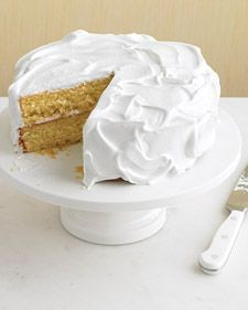 Martha Stewart's versatile vanilla cake....I think this would be beautiful with different pastel tinted coconut sprinkles for an Easter Dinner cake....simple but elegant....: Layered Cakes, Basic Vanilla, Lemon Cakes Recipes, Versatile Vanilla, Vanilla Cakes Recipes, Martha Stewart, Yellow Cakes, White Cakes, Birthday Cakes