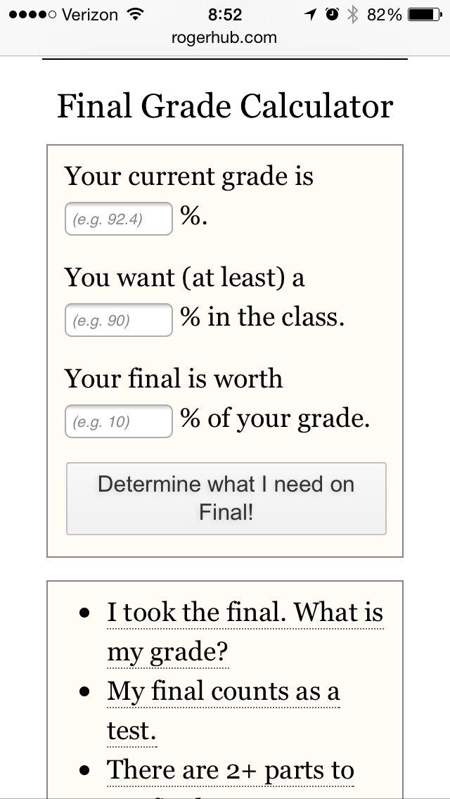 Best  Final Grade Calculator Ideas On   Final Grade