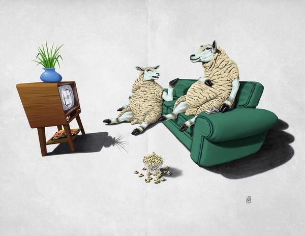 Sheep (Wordless) art | decor | wall art | inspiration | animals | home decor | idea | humor | gifts