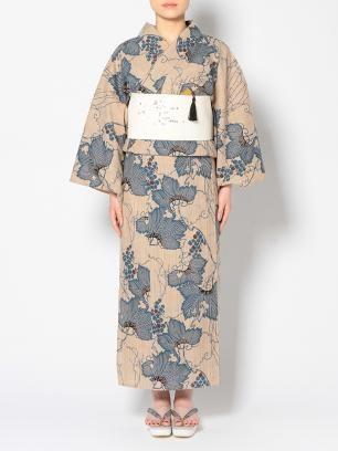 水金地火木土天冥海 |竺仙 |奥州小紋の浴衣 |葡萄 yukata