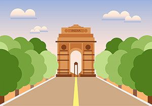 India gate art by DuttaartShop on Etsy