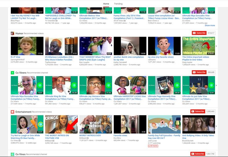 I watched one Vine compilation with my sister in my years of using Chrome and now this is what my YouTube homepage looks like.