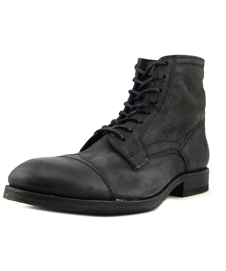 FRYE Frye Everett Lace Up Men  Round Toe Leather Black Chukka Boot. #frye #shoes #