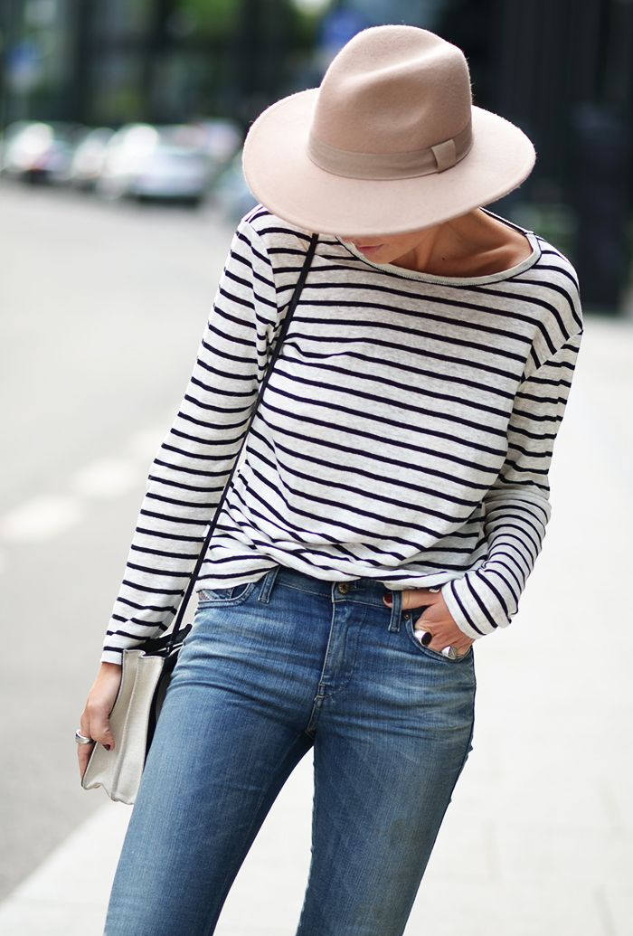 Style...Marie Murstad ///outandaboutmarie // Hat + Stripes