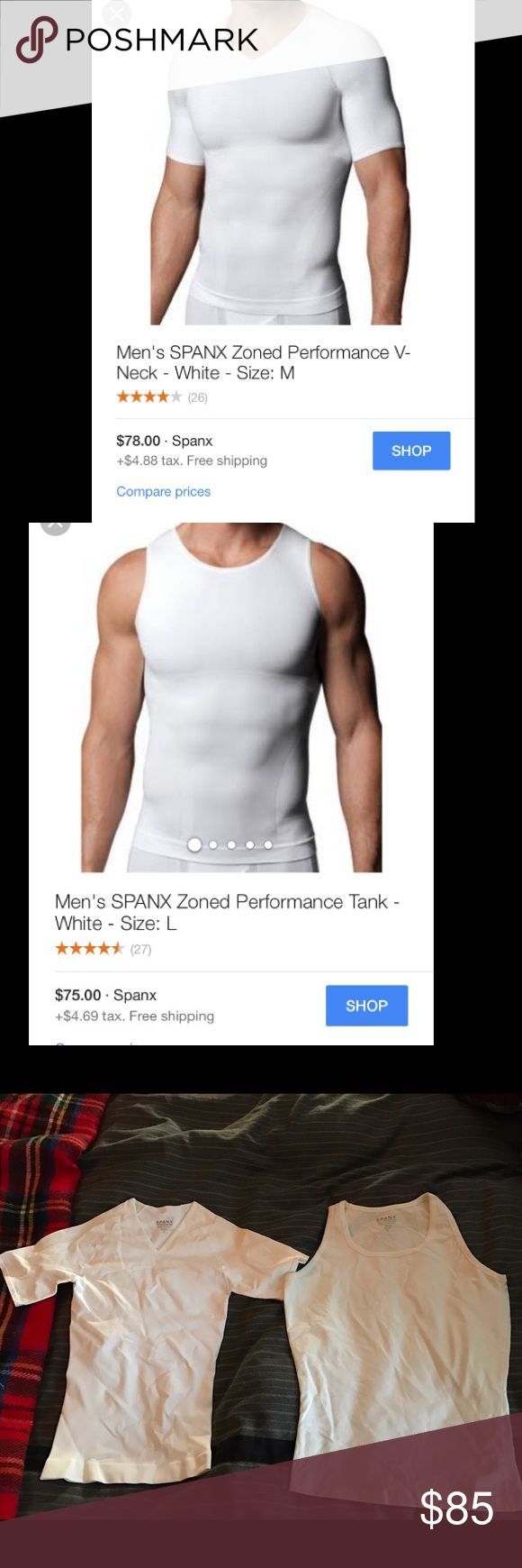 Men's spanx tank and shirt Men's Size Large spanx tank and t shirt. Tshirt never worn. Tank worn once. Laundered sold as a pair SPANX Underwear & Socks Undershirts