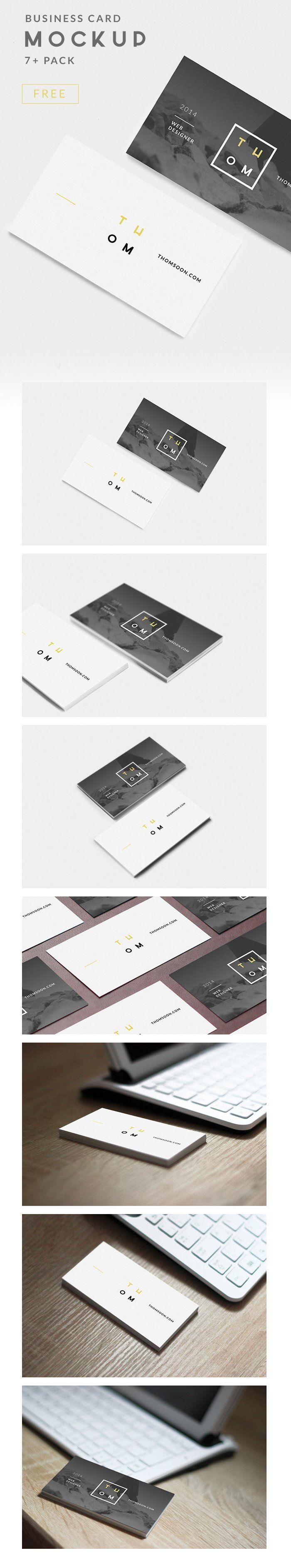 Free PSD: 7+ Business Card Mockups by Tomasz Mazurczak #mockup #psd #businesscard