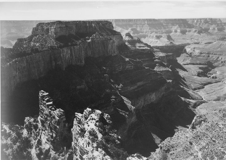 """Grand Canyon National Park,"" panorama with rock formation, different angle."