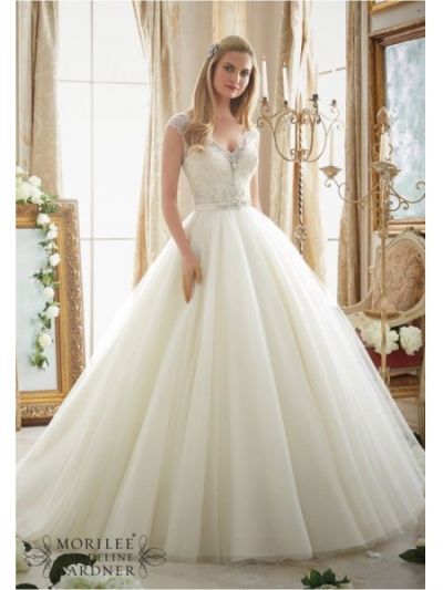 satin belt floor length mori lee 2875 wedding dress|mori lee 2875|Mori lee