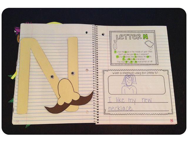 Interactive Aphabet Notebook!  So cute for my kindergarten teacher friends!