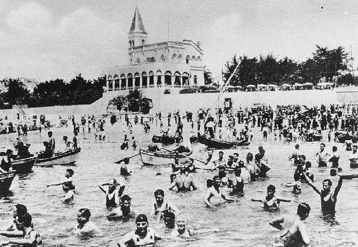 Tamariz Beach, Portugal at the beginning of the 1900s