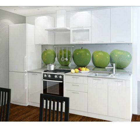 Готовая кухня Валерия-М комплектация 2 каркас белый, фасад белый глянец