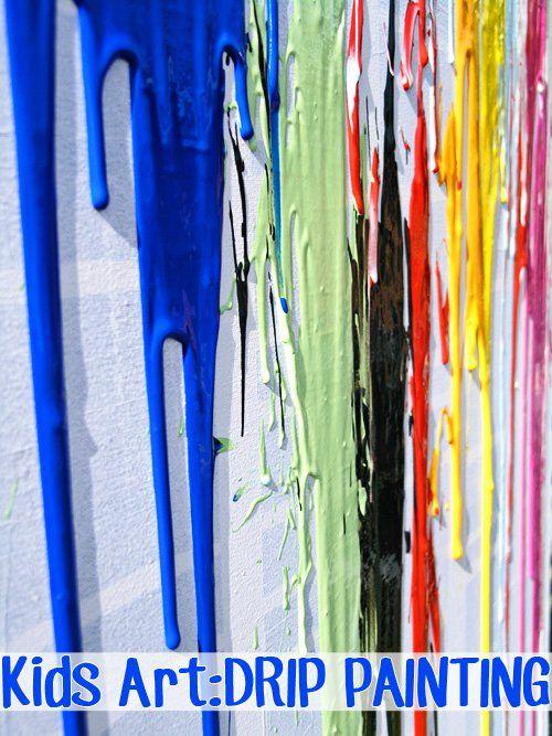 Childhood 101 | Kids Art Ideas: Drip Painting
