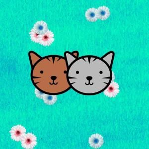 Discover more of Calitabby's  greeting cards featuring cute cats Chilli and Nutmeg created for @thortful.