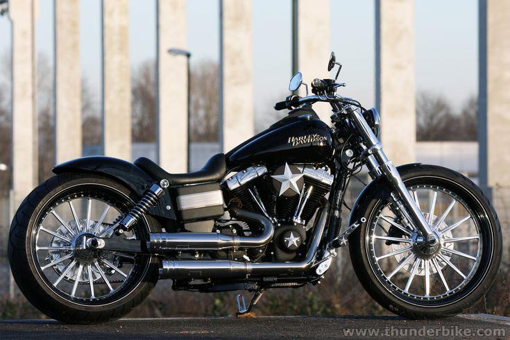 #Harley Davidson Street Bob by #Thunderbike