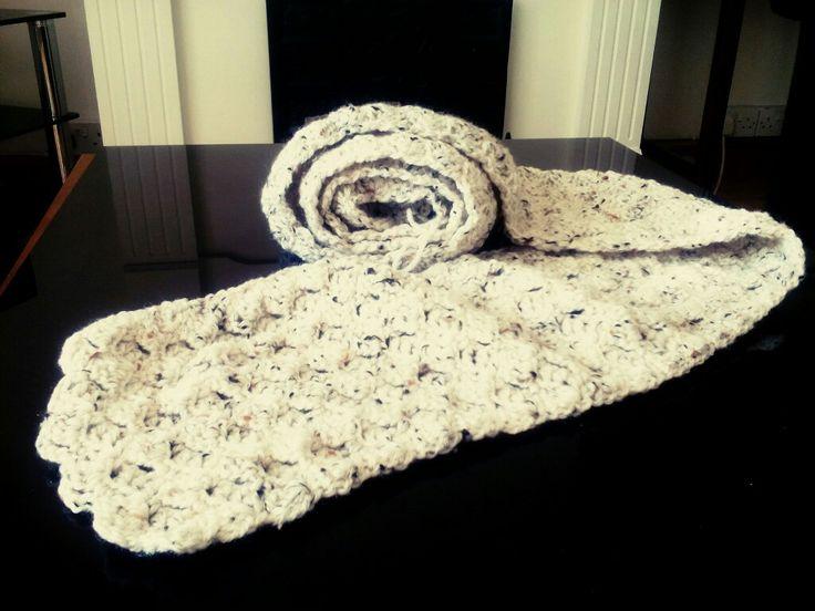Handmade Crochet scarf..100% acrylic yarn..