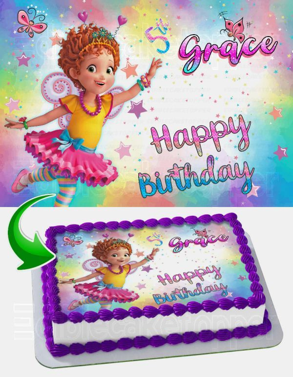 Incredible Fancy Nancy Edible Cake Image Topper Personalized Birthday Sheet Funny Birthday Cards Online Overcheapnameinfo