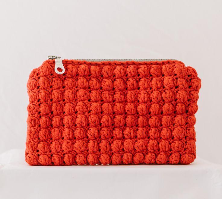 red mini crochet porte-monnaie