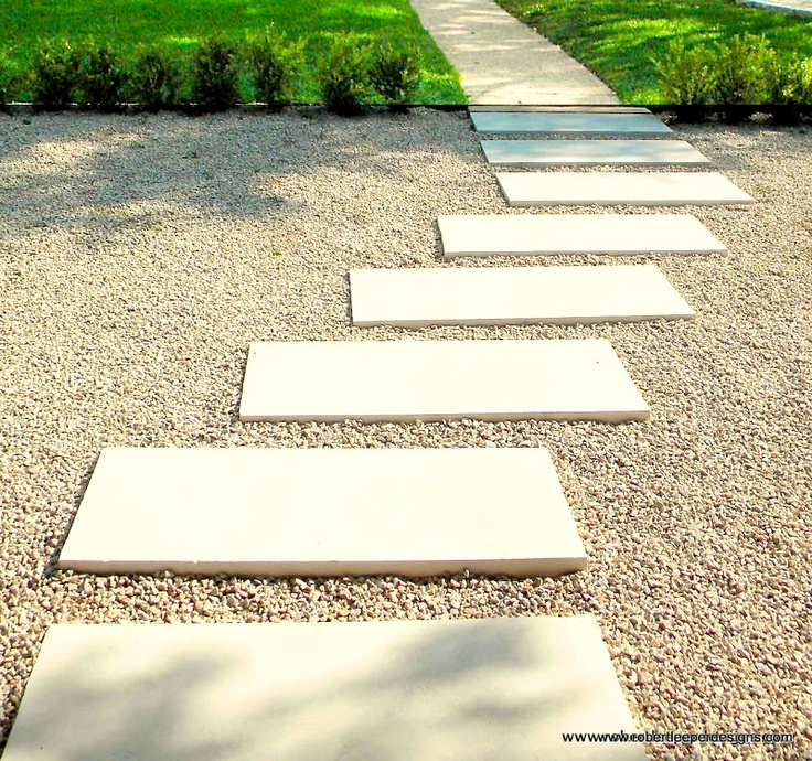 Modern gravel courtyard with pavers google search for Courtyard stone and landscape