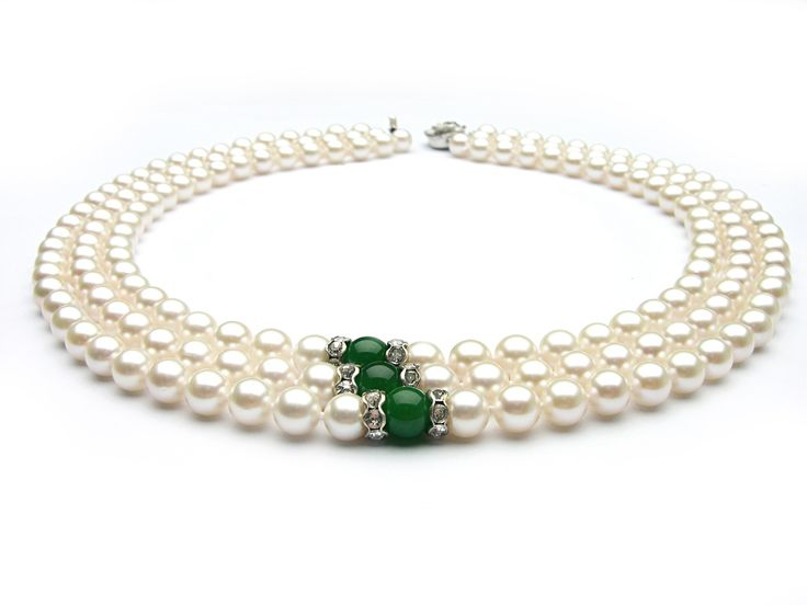 photos of white pearls   ... White Akoya Pearl Necklace, 7-7.5mm AA+/AAA - Pearl Necklaces - Pearl